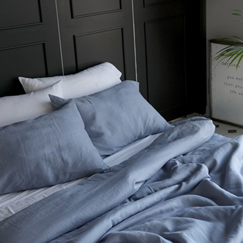 REFRESH LINEN BLUEGREY BEDDING