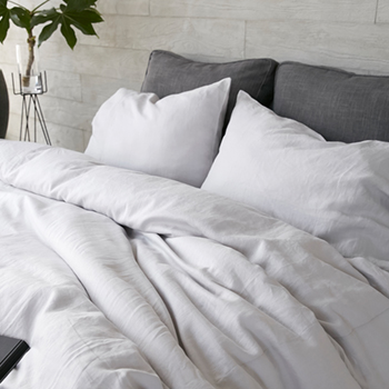 REFRESH LINEN LIGHT GREY BEDDING