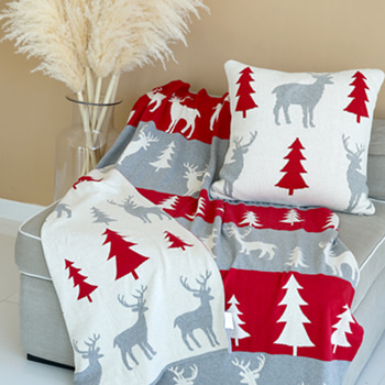 (40%SALE) RUDOLPH&TREE BLANKET