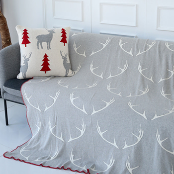 (40%SALE) GREY ANTLER BLANKET