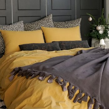 COMFORTABLE BEDDING SET - YELLOW