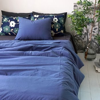 COMFORTABLE BEDDING SET - BLUE (NEW)